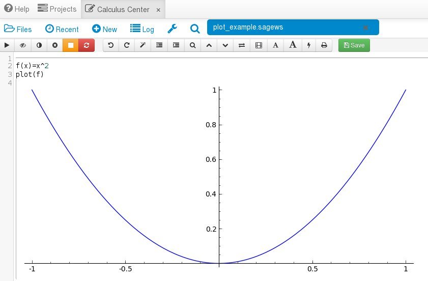 Calculus Center | Plotting functions with Sage!